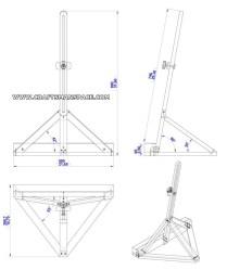 Single Mast Tabletop Easel Plan