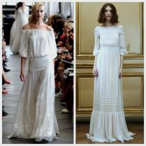 Seventies Inspired Wedding Dresses