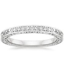 Interior Vintage Wedding Bands For Her Vintage Inspired Ring