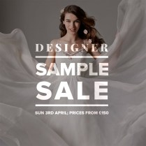 Designer Wedding Dress Sample Sale April 2016