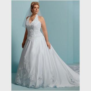 Halter Wedding Dress Plus Size Naf Dresses
