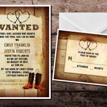 Western Wedding Invites Innovative Invitations Cream Brown 1000