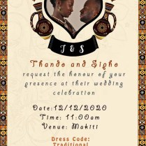 Best Invitation Design For Umembeso Umemulo Traditional African