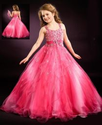 Hot Pink Flower Girl Dress For Wedding Girls Pageant Dresses Kids