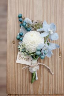 Boutonniere (flowers Leaves Of Grass Floral Design)