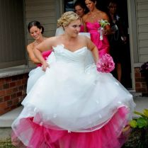 Put The Color Of The Bridesmaids Dress Underneath Your Dress