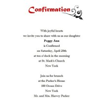 Confirmation Invitation 1 Wording