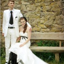Wear A Selfmade Colored Crinoline Skirt Under Your Wedding Dress