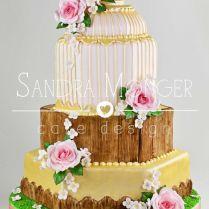 Vintage, Rustic Birdcage Wedding Cake