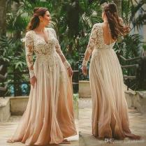 Elegant Chiffon Mother Of The Bride Dresses Long Sleeve Lace Dress