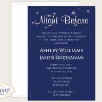 The Night Before Rehearsal Dinner Invitation Wedding Rehearsal
