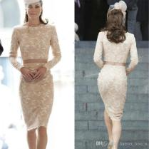 Lace Cocktail Dresses Fashion Kate Middleton Dresses Champagne