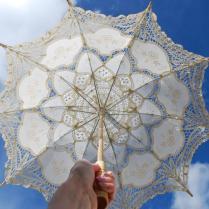 Lace Parasol, Lace Umbrella, 30 , Victorian Parasol, Communion