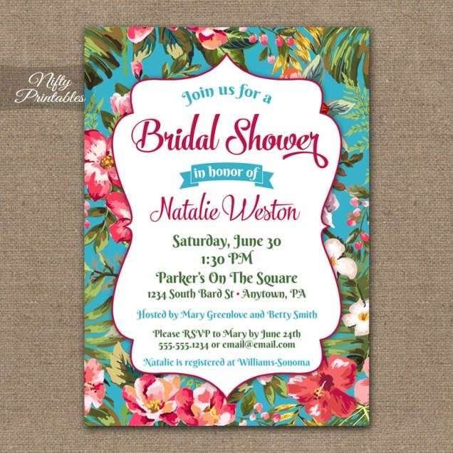 Luau Wedding Shower Invitations Hawaiian Bridal Shower Invitations