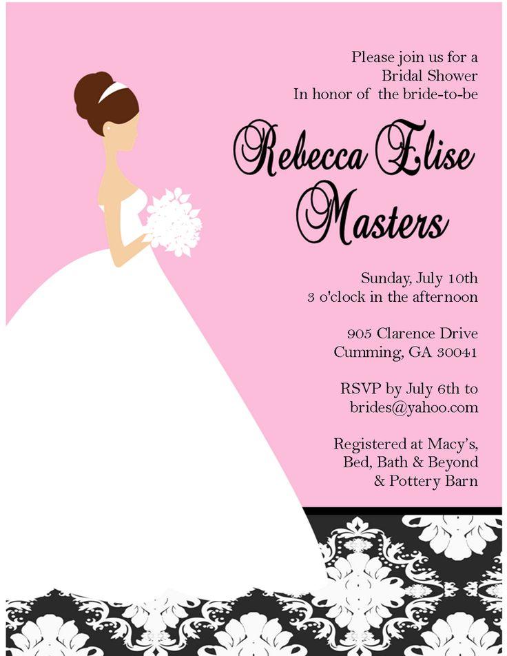 free electronic bridal shower invitations