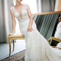 The Hottest Wedding Dress Trend Of 2017 Plunging Neckline