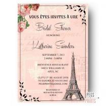 Paris Bridal Shower Invitation (printable) Paris Themed