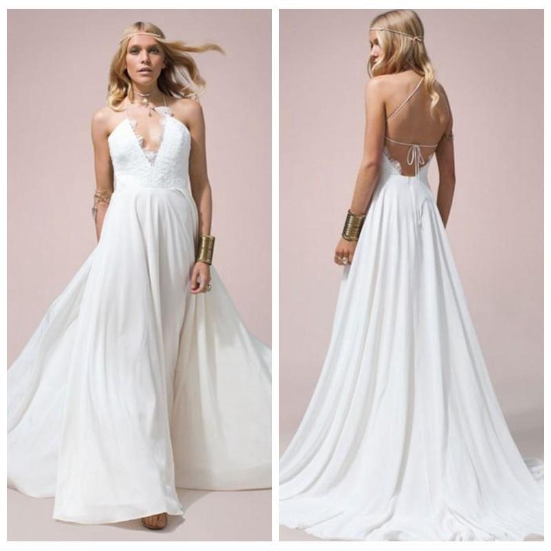 Lace Halter Top Wedding Dress