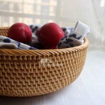 Rustic Fruit Bowl Rattan Creative Kitchen Farmhouse Best Good