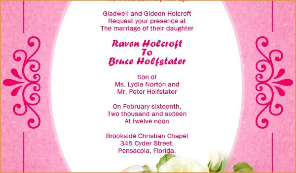 Samples Of Christian Wedding Invitation Cards