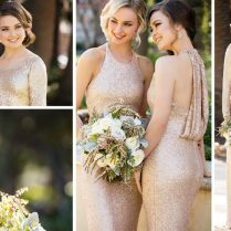 Glam Sequin Bridesmaid Gowns From Sorella Vita