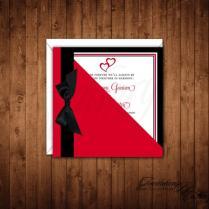 Valentine's Day Wedding Invitations, Wedding Invitations, Red And