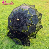 Vintage Lace Umbrella And Fan Handmade Cotton Embroidery