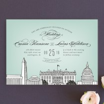 Washington Dc Themed Wedding Invitations