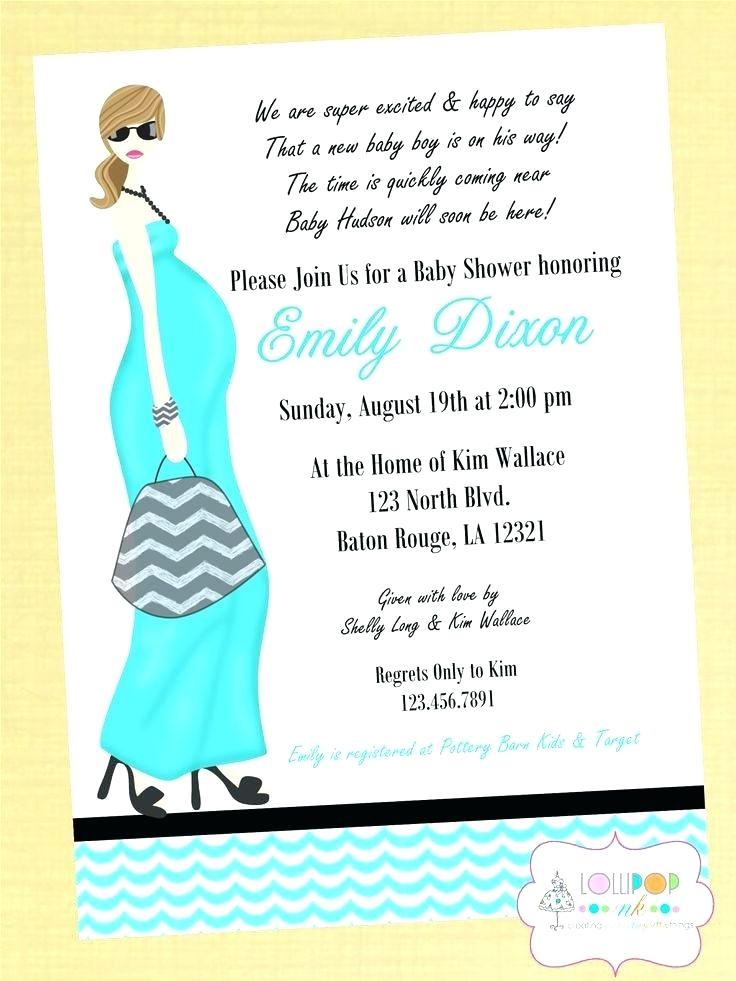 Card Shower Invitation Wording