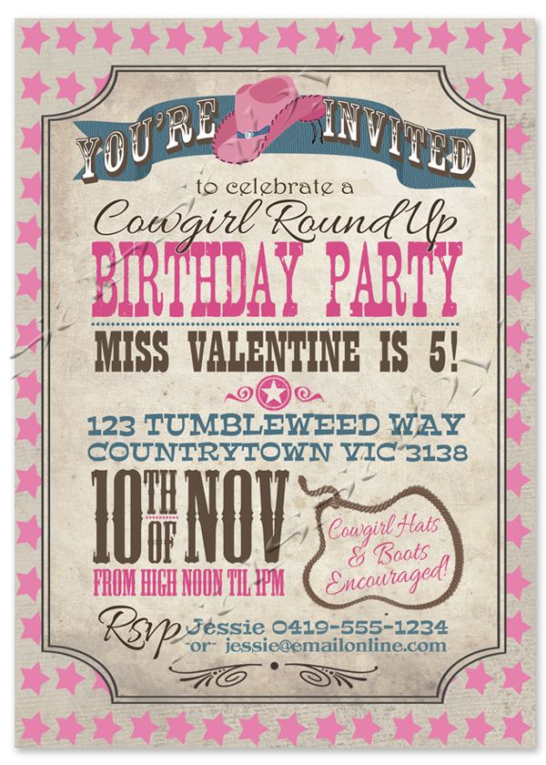 image about Free Printable Cowgirl Birthday Invitations called Totally free Printable Cowgirl Invites