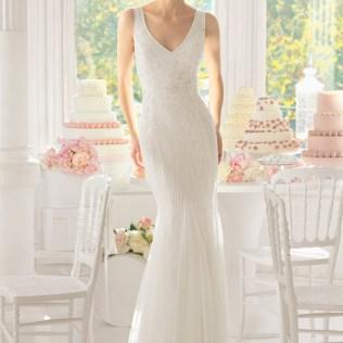 Beaded Sheath Wedding Dress