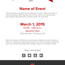 College Of Nursing Event Invitation Email Template – Troy Huffman
