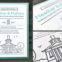 How To Make Affordable Diy Letterpress Wedding Invitations 10