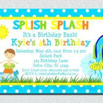 Kid Pool Party Invitation Birthday Invitations For Kids Free