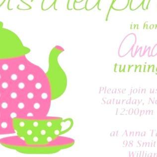 Kids Tea Party Invitation Wording