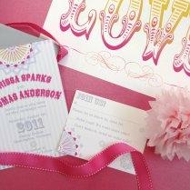 Love Themed Wedding Invitations Vintage Carnival Wedding Reception
