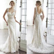 New 2016 Sweetheart Backless Sheath Wedding Dresses Applique