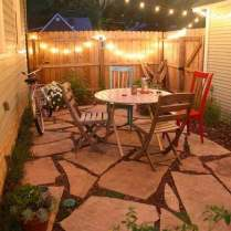 Backyard Best Small Yard Ideas Outstanding Red Rectangle Vintage