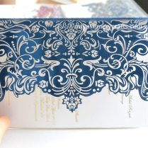 Paper Invitation Mariage,chinese Royal Blue Wedding Invitations