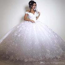 2017 Custom Made Wedding Dresses Dubai Italy Pictures Ball Gown