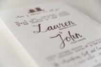 Lauren John's Rustic Home Letterpress Wedding Invitations