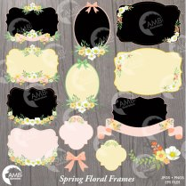 Rustic Wedding Clipart, Wedding Clipart, Bridal Shower Clipart