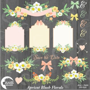 Wedding Clipart, Rustic Wedding Clipart, Wedding Frame Clipart