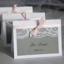 White Lace Wedding Invitations Table Name Place Card Print With