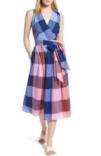 1901 Stripe Fit & Flare Dress