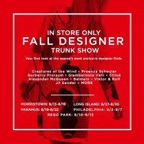Century21 Mark Your Calendar! Designer Trunk Show—you Won't Want