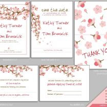 Cherry Blossom Invite Set