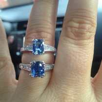Our Gorgeous Shane Co Sapphire Engagement Rings! Diamond And