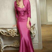 Sweetheart Ruching Fuchsia Mermaid Long Mother Of Groom Dress