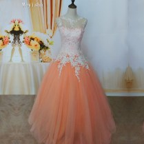 Zj9036 C 2017 New White Ivory Champagne Pink Orange Silver Lace